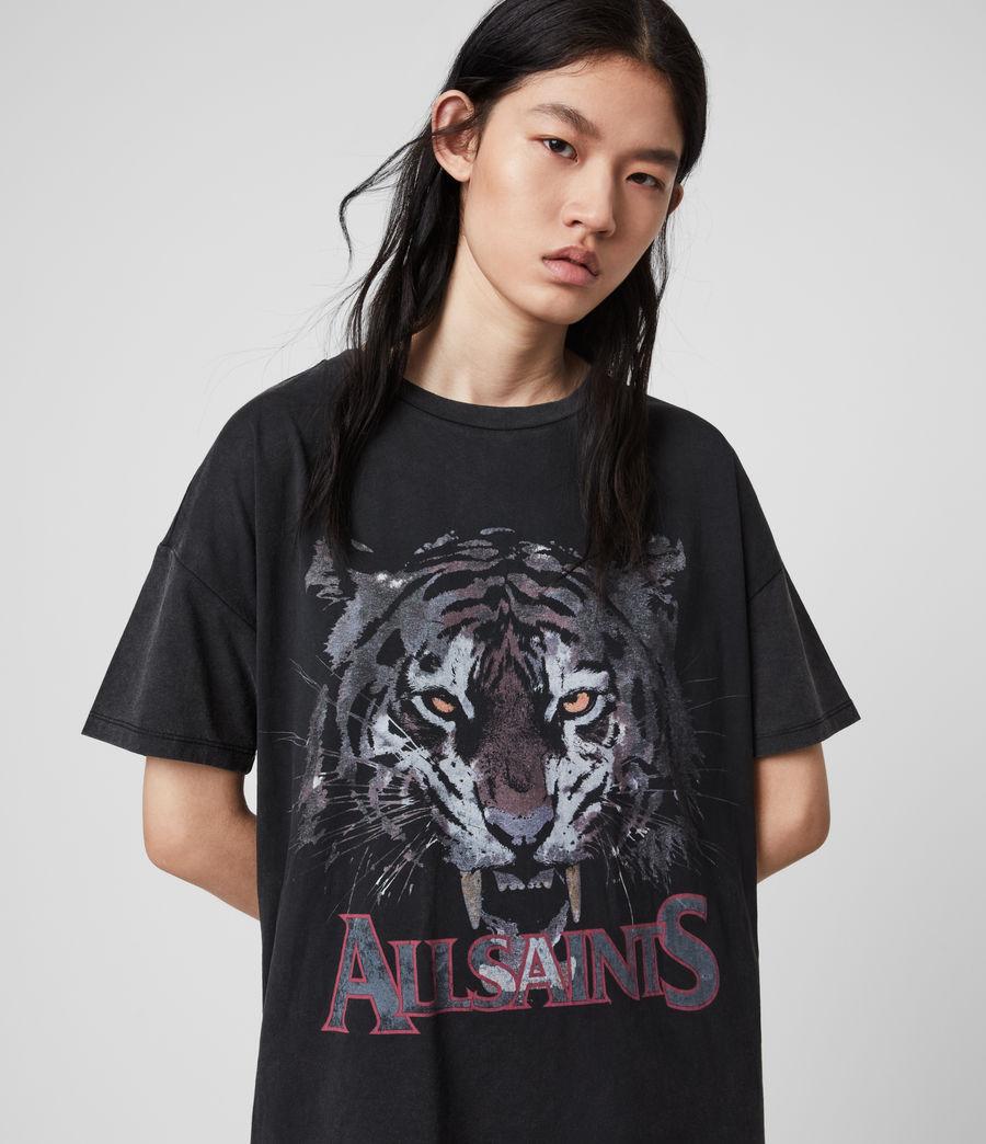 Mujer Tiger T-Shirt Dress (vintage_black) - Image 2