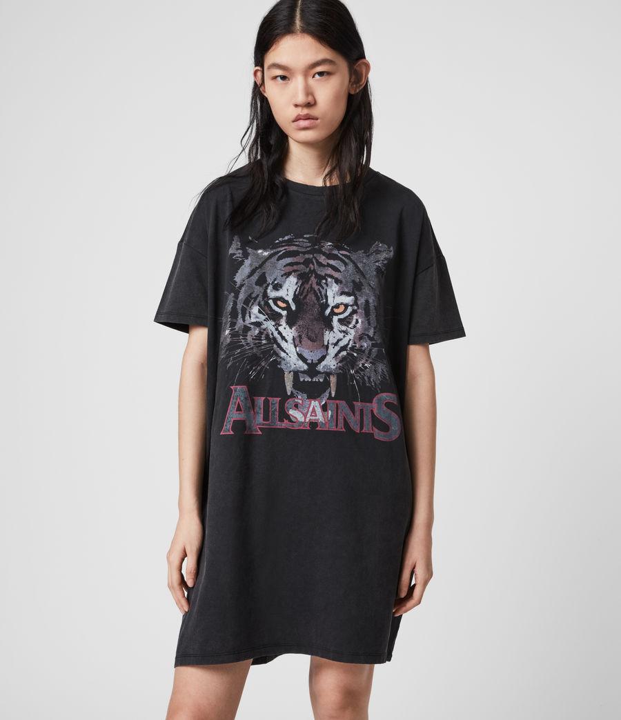 Mujer Tiger T-Shirt Dress (vintage_black) - Image 3