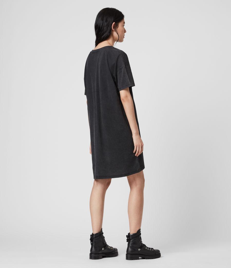 Mujer Tiger T-Shirt Dress (vintage_black) - Image 5