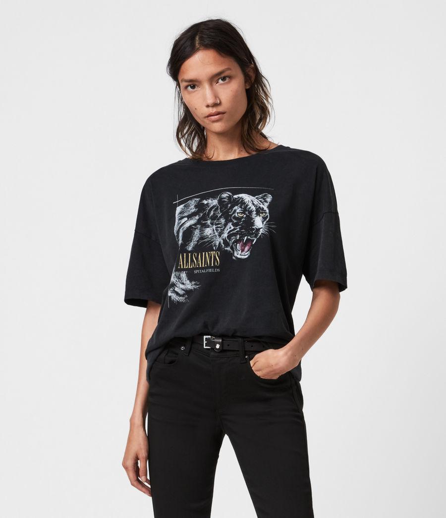 Womens Panthera Cori T-Shirt (black) - Image 1