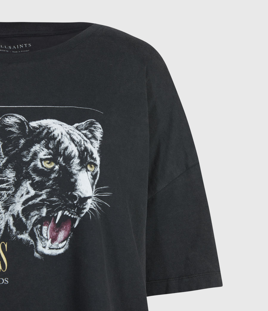 Womens Panthera Cori T-Shirt (black) - Image 4