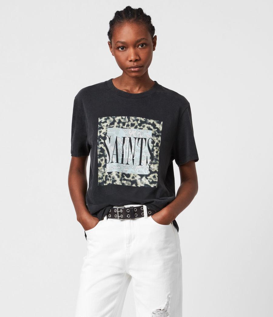Donne Tortell Boyfriend T-Shirt (vintage_black) - Image 1