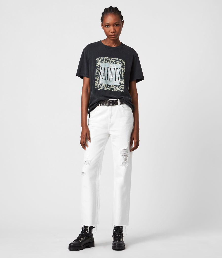 Donne Tortell Boyfriend T-Shirt (vintage_black) - Image 4