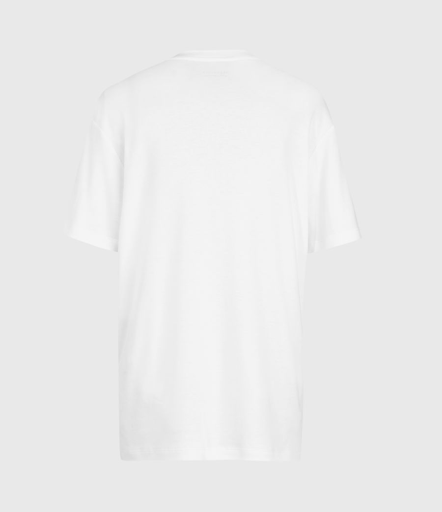 Women's Amie Boyfriend T-shirt (optic_white) - Image 3