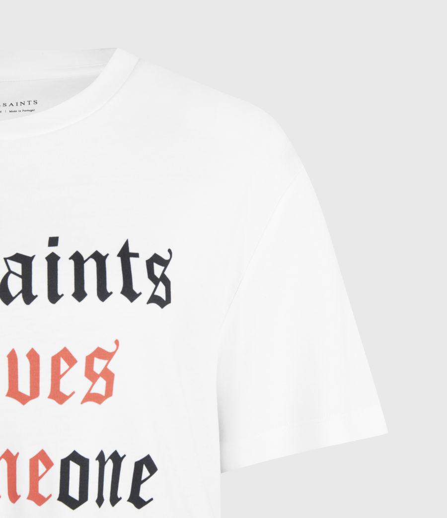 Womens Amie Boyfriend T-Shirt (optic_white) - Image 4
