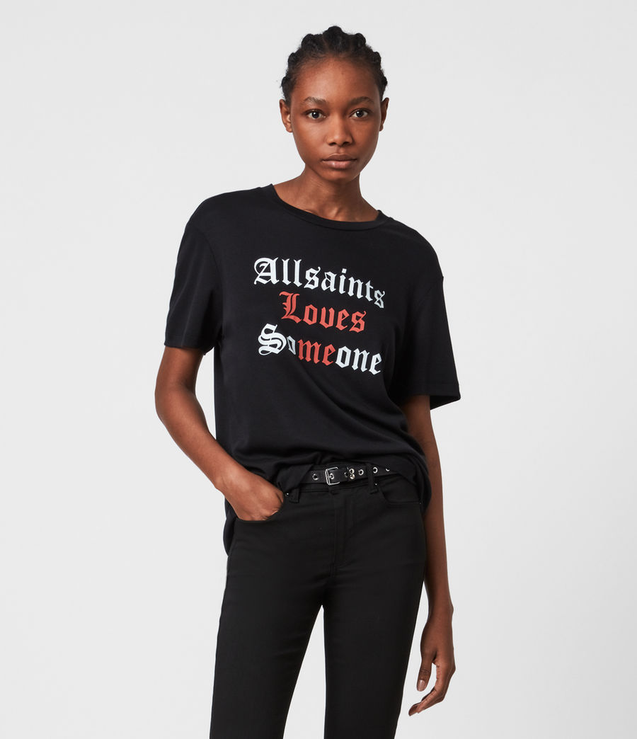 Womens Amie Boyfriend T-Shirt (black) - Image 1
