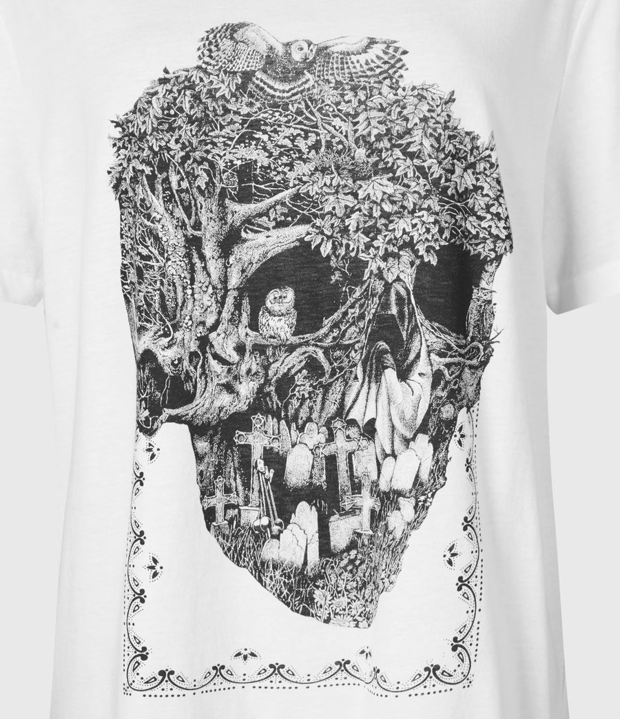 Women's Forestskull Mila T-Shirt (optic_white) - Image 5