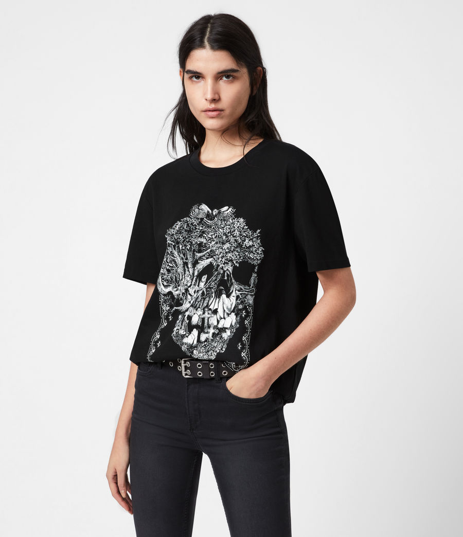 Women's Forestskull Mila T-Shirt (black) - Image 1