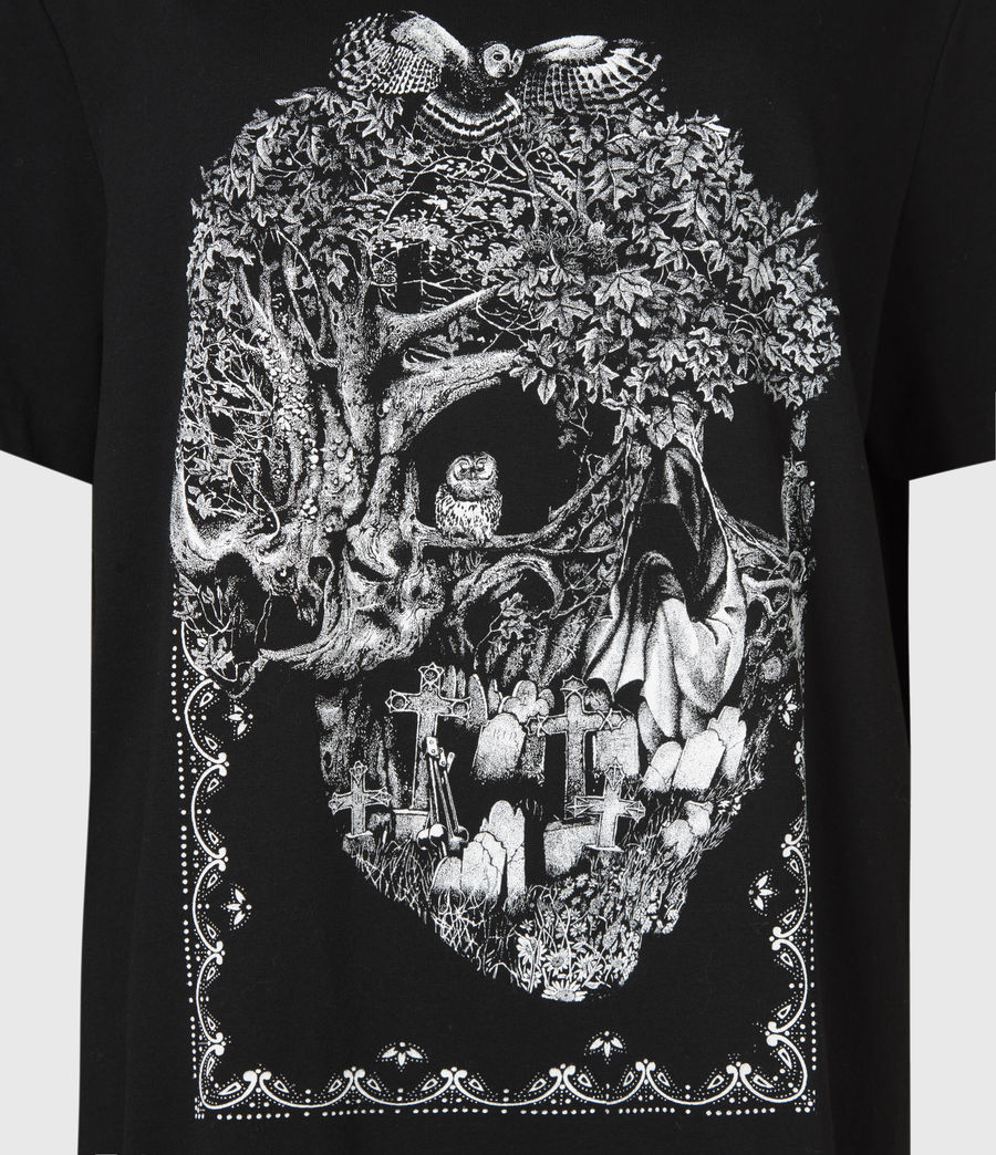 Women's Forestskull Mila T-Shirt (black) - Image 6