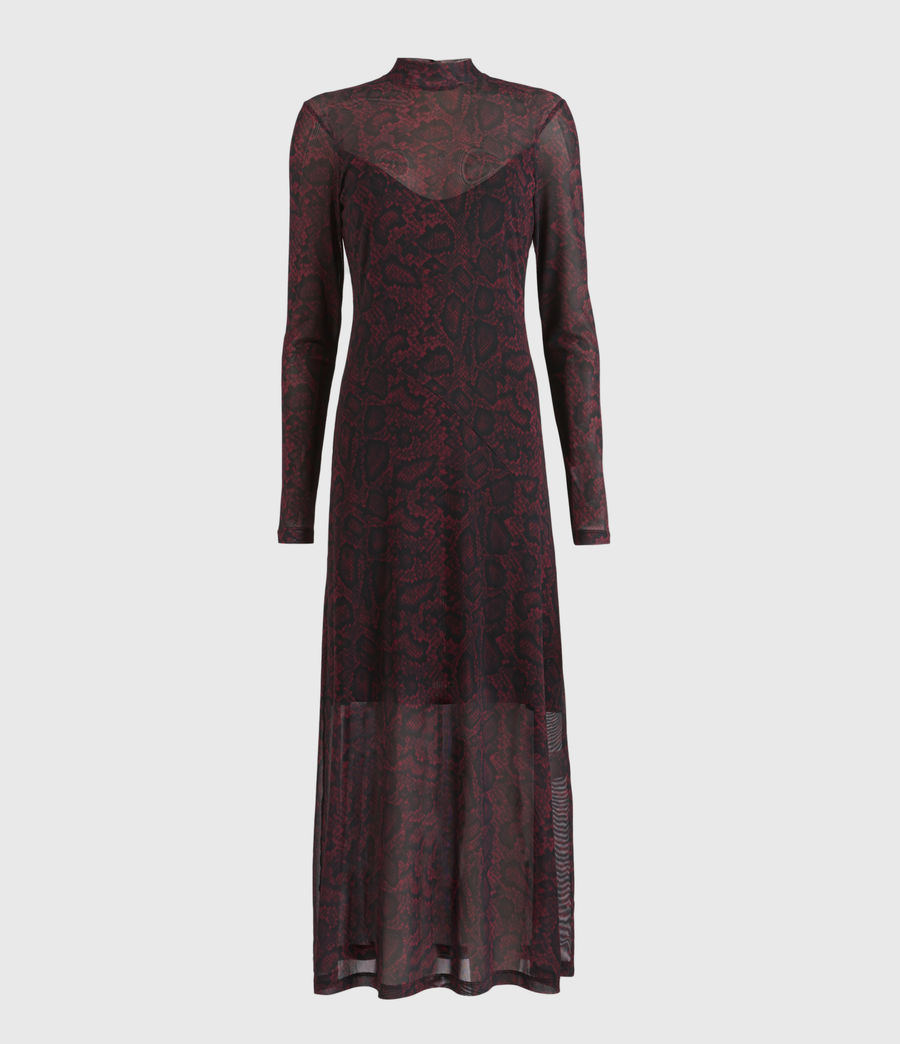 Womens Hanna Stanza Dress (burgundy_red) - Image 2