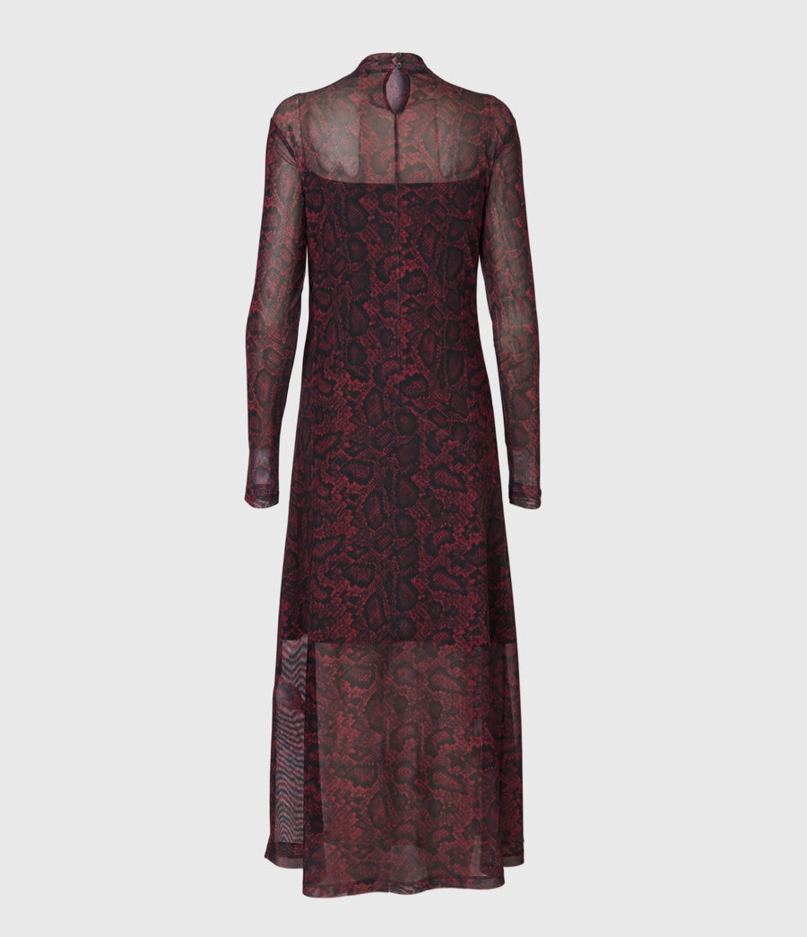 Women's Hanna Stanza Dress (burgundy_red) - Image 3