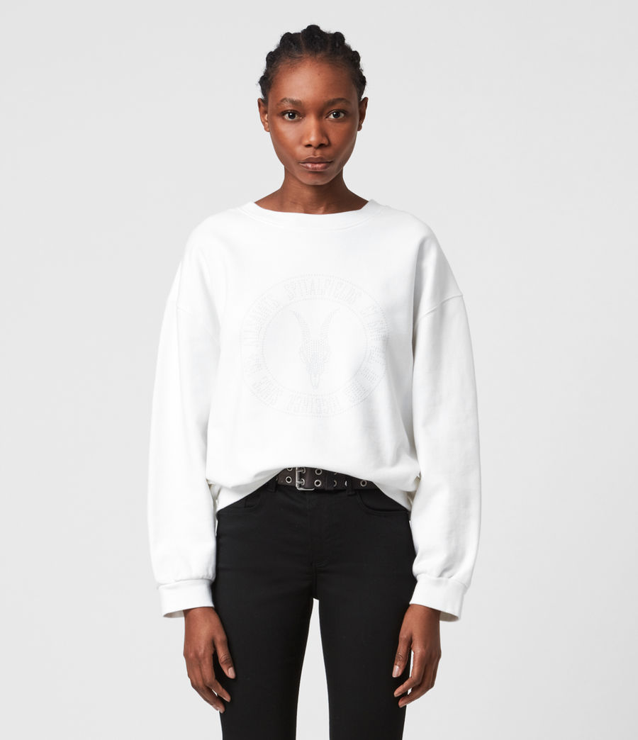 Womens Studia Iona Sweatshirt (optic_white) - Image 2