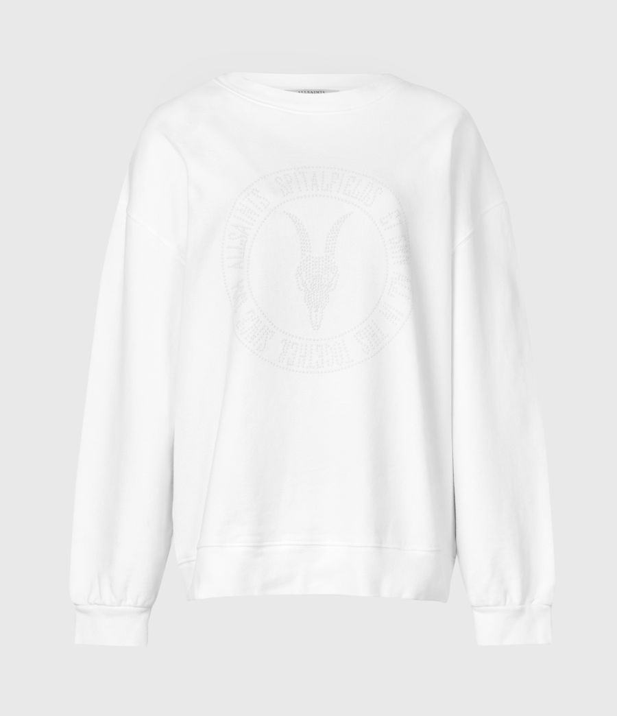 Womens Studia Iona Sweatshirt (optic_white) - Image 3
