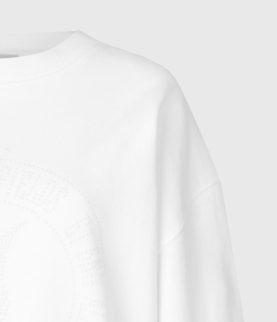 Womens Studia Iona Sweatshirt (optic_white) - Image 6