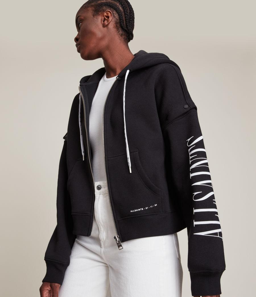 Womens Amphia Chlo Zip 2-In-1 Hoodie (black) - Image 4