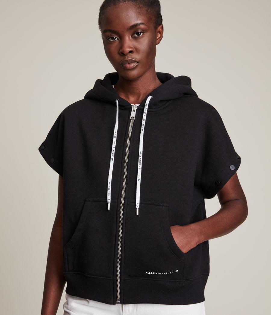 Womens Amphia Chlo Zip 2-In-1 Hoodie (black) - Image 5