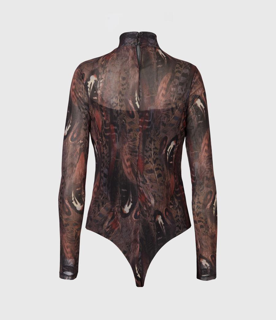 Women's Fusion Elia Bodysuit (brown) - Image 3