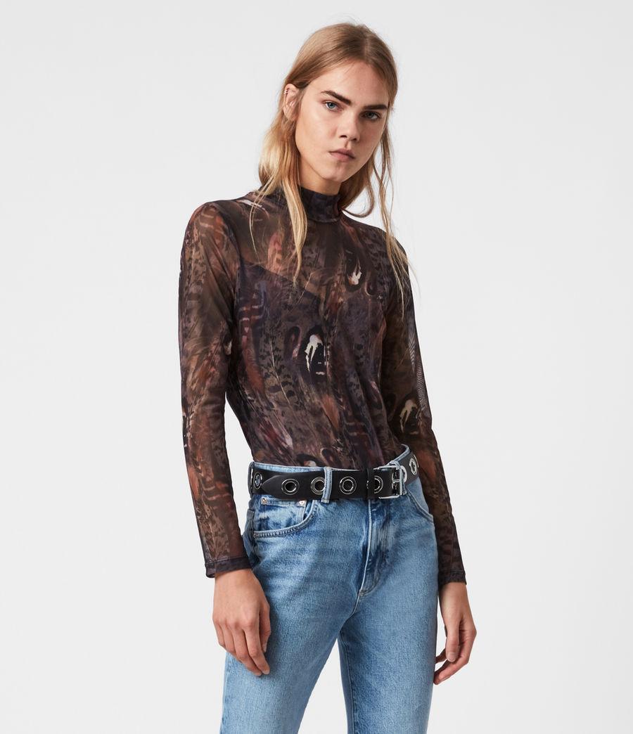 Women's Fusion Elia Bodysuit (brown) - Image 4