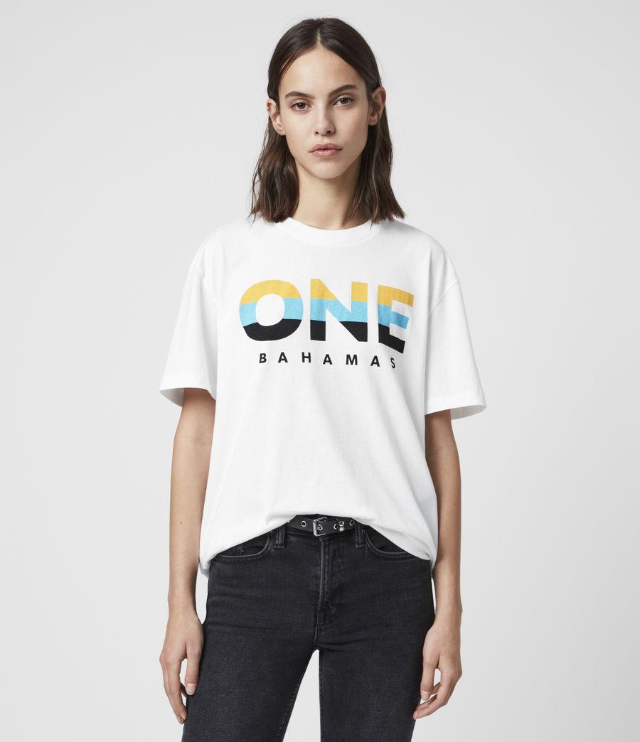 Women's Bahamas Crew T-Shirt (optic_white) - Image 2