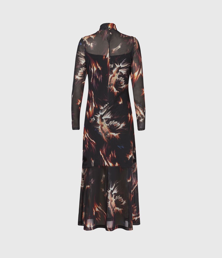 Womens Hanna Flames Dress (black) - Image 3