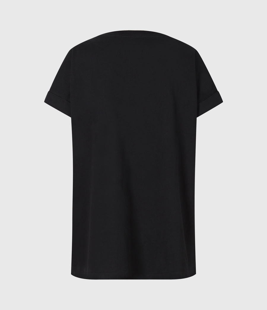 Women's City Imogen Boy T-Shirt (black) - Image 3