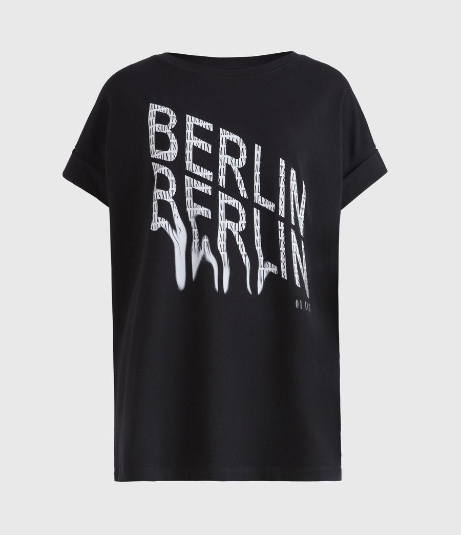 Damen Berlin Imogen Boy T-Shirt (black) - Image 2