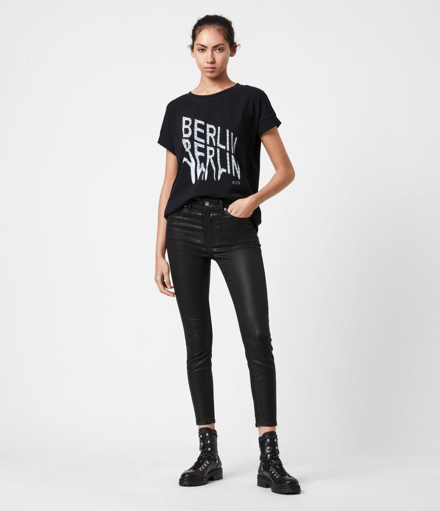Damen Berlin Imogen Boy T-Shirt (black) - Image 4