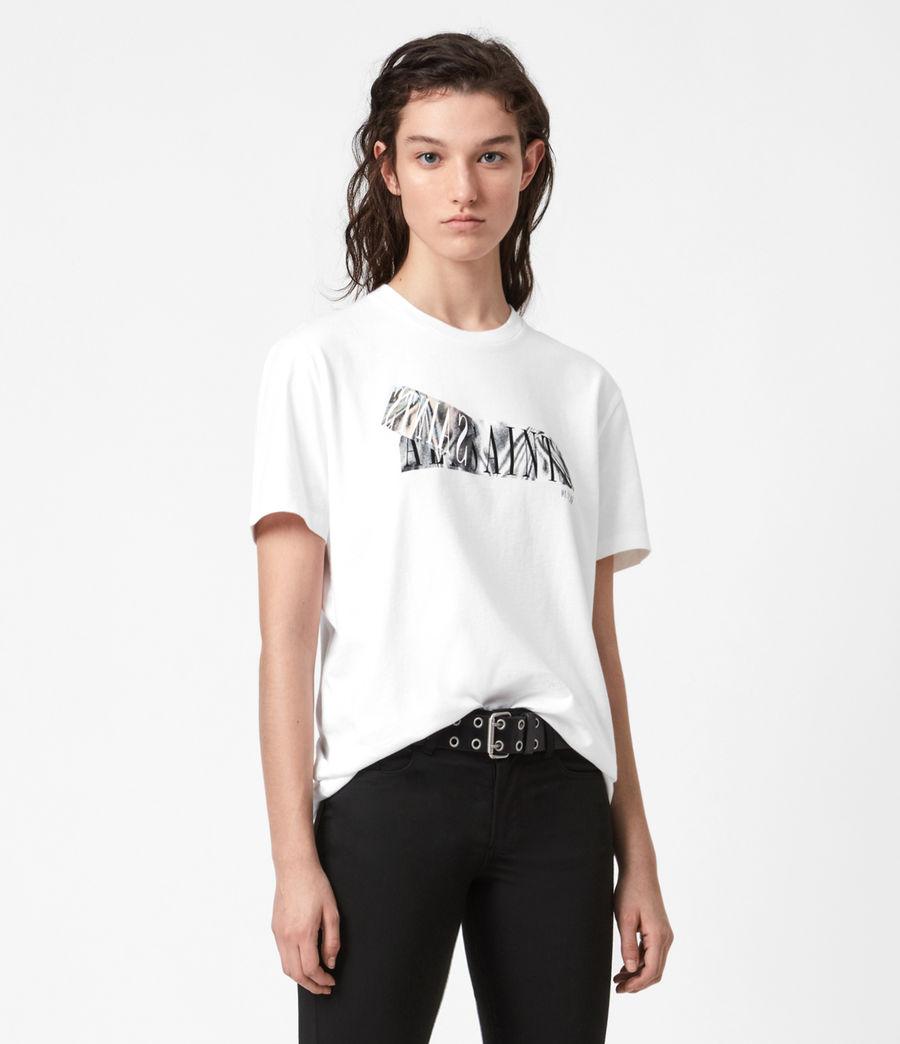 Womens Revelo Crew T-Shirt (optic_white) - Image 4