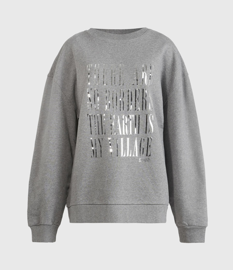 Womens Freedom Iona Sweatshirt (grey_marl) - Image 2