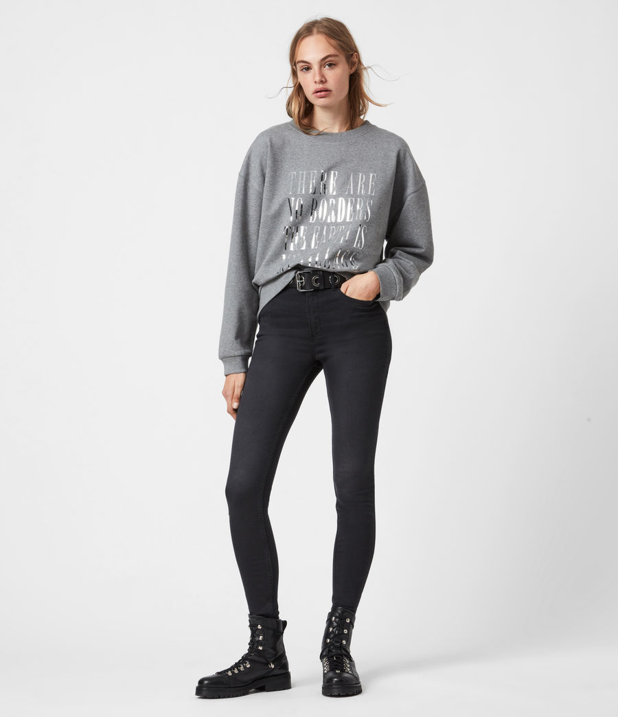Womens Freedom Iona Sweatshirt (grey_marl) - Image 3