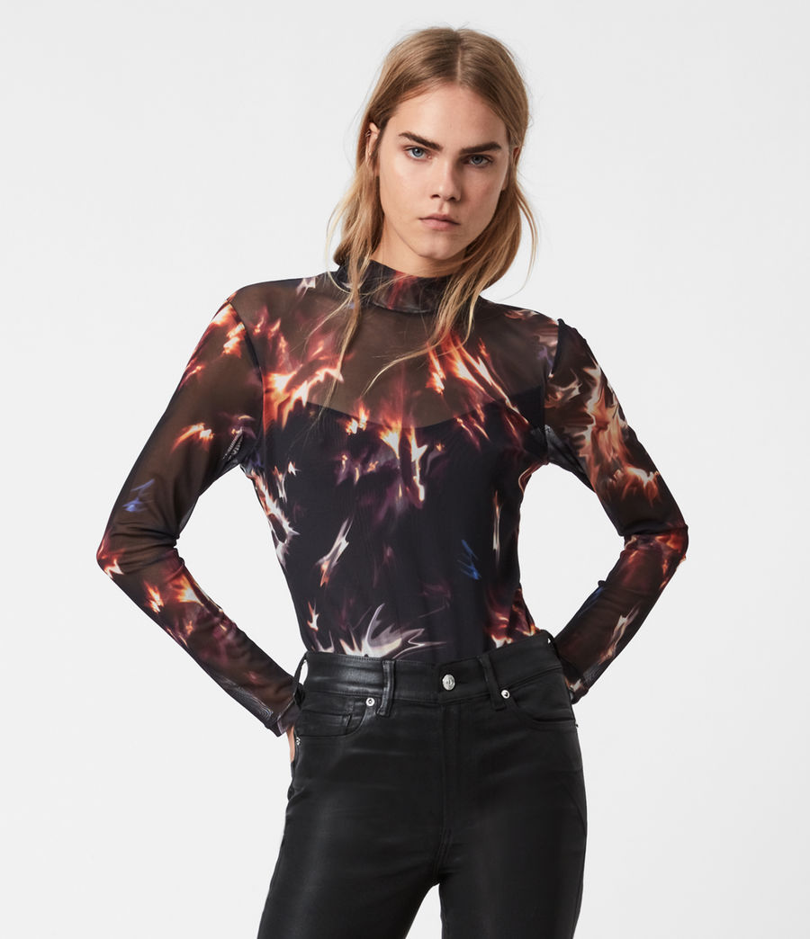 Womens Flames Elia Bodysuit (black) - Image 1