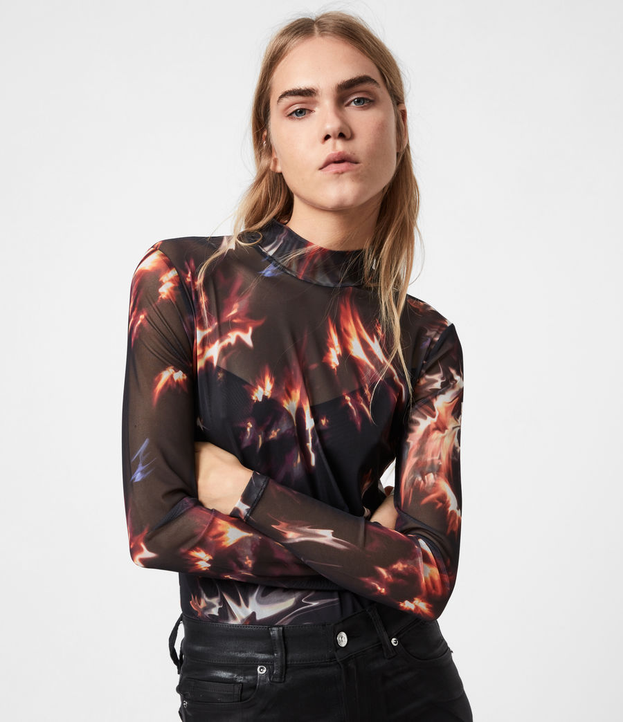 Womens Flames Elia Bodysuit (black) - Image 7