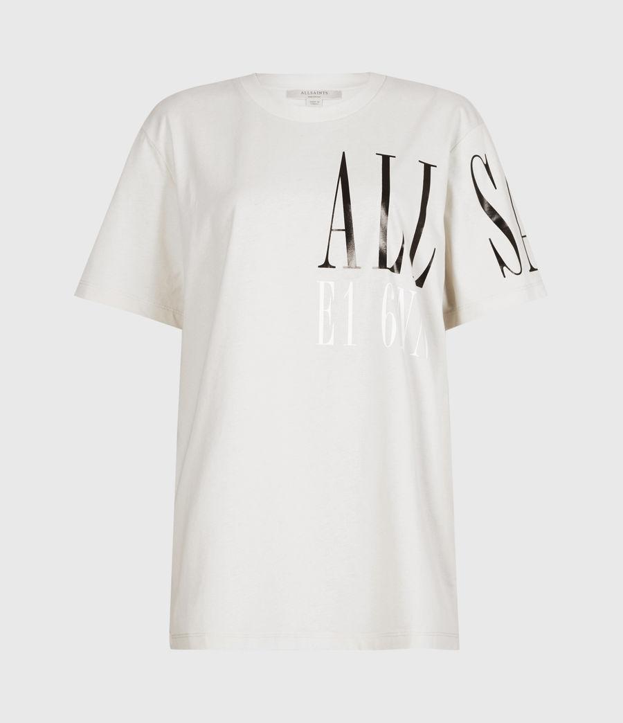 Womens Separo Crew T-Shirt (ivory_white) - Image 2
