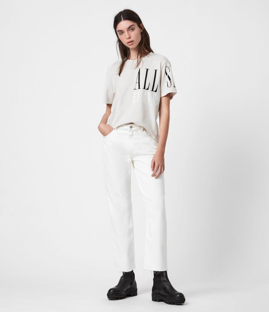 Womens Separo Crew T-Shirt (ivory_white) - Image 4