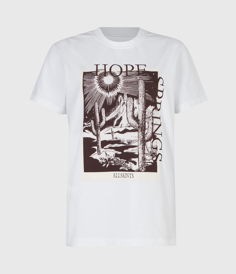 Femmes T-Shirt Cacti Boyfriend (optic_white) - Image 2