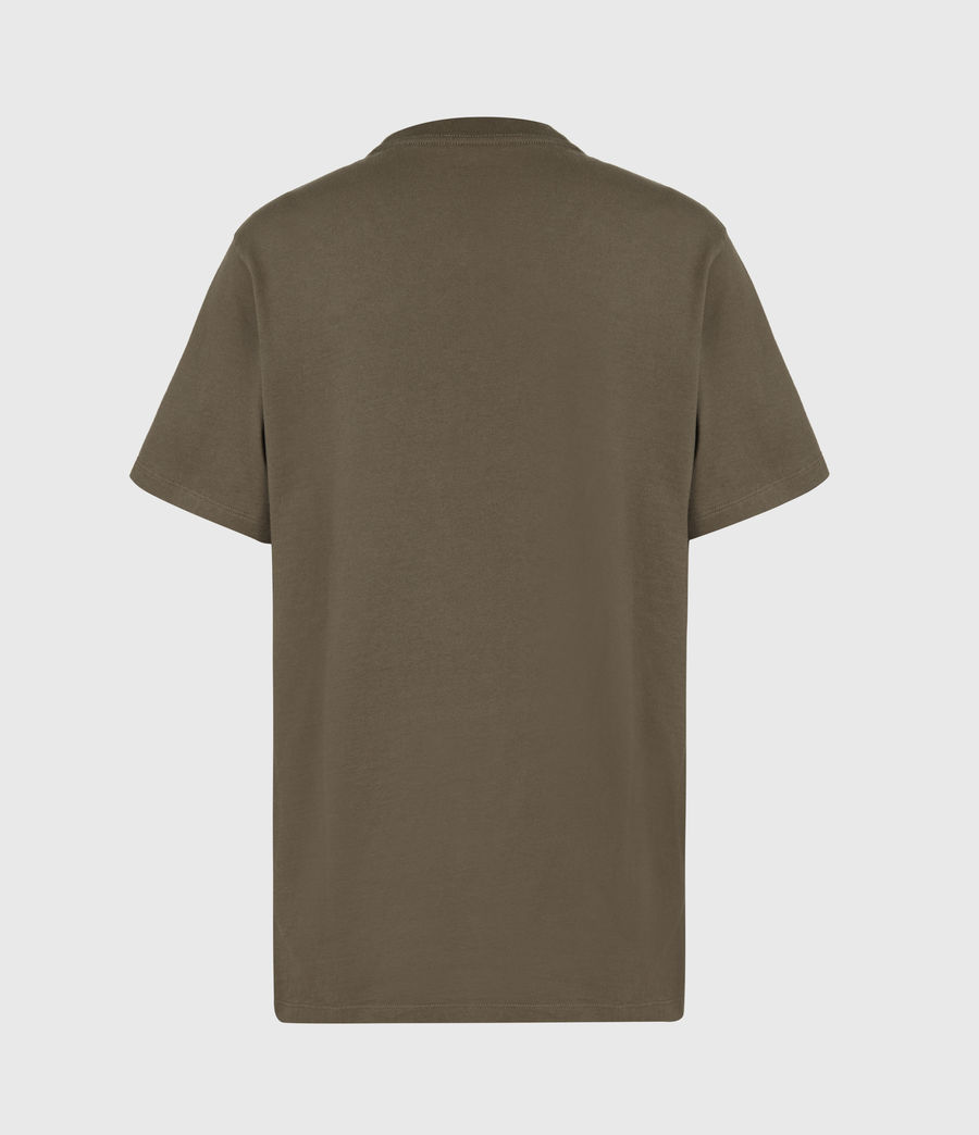 Womens Co-ordinates Boyfriend T-Shirt (khaki_green) - Image 3