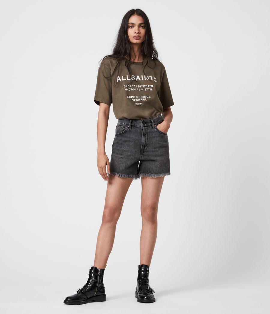 Womens Co-ordinates Boyfriend T-Shirt (khaki_green) - Image 4