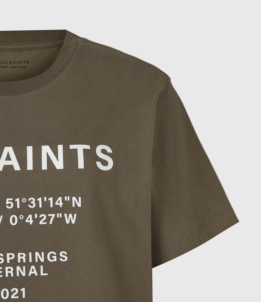 Womens Co-ordinates Boyfriend T-Shirt (khaki_green) - Image 5