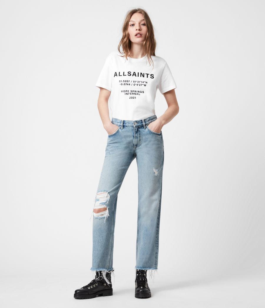 Women's Co-ordinates Boyfriend T-Shirt (optic_white) - Image 4