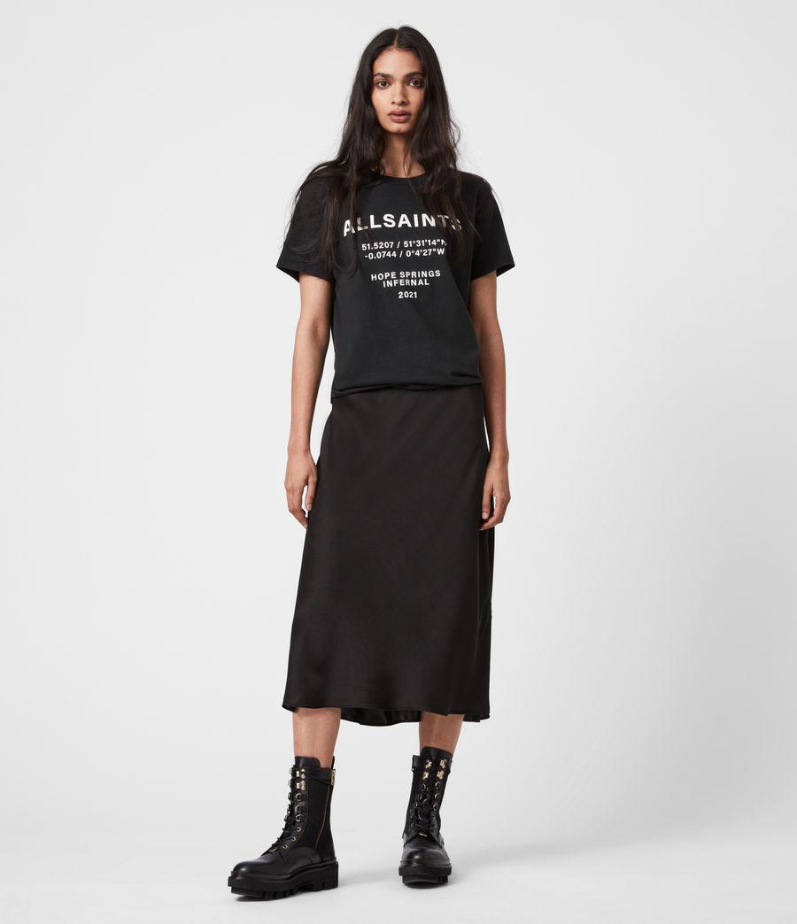 Womens Co-ordinates Boyfriend T-Shirt (black) - Image 1
