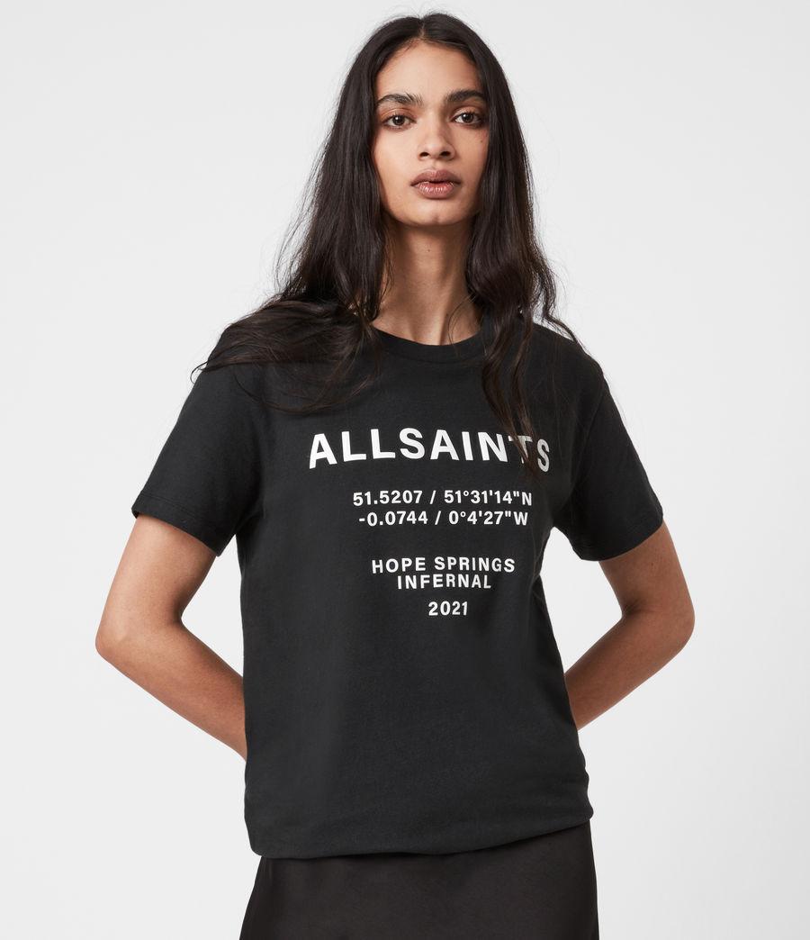 Womens Co-ordinates Boyfriend T-Shirt (black) - Image 7