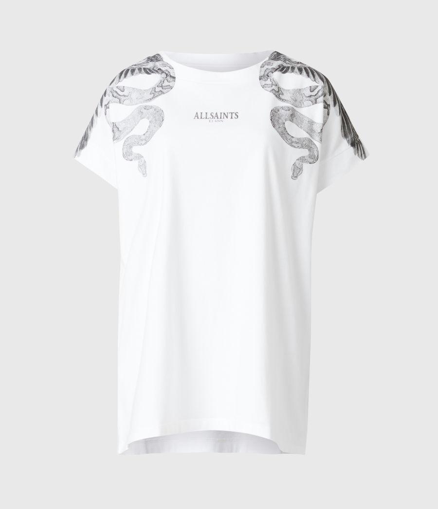 Women's Snake Eagle Imo Boy T-Shirt (optic_white) - Image 2