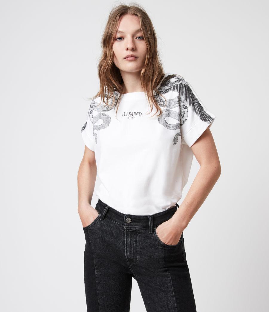 Women's Snake Eagle Imo Boy T-Shirt (optic_white) - Image 4