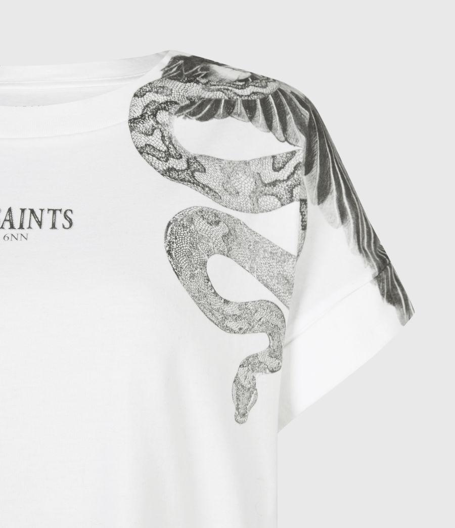 Women's Snake Eagle Imo Boy T-Shirt (optic_white) - Image 5