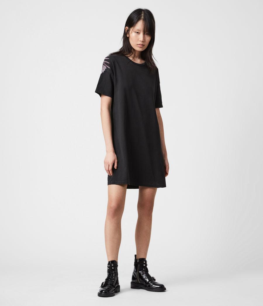 Femmes Aquila T-Shirt Dress (vintage_black) - Image 1