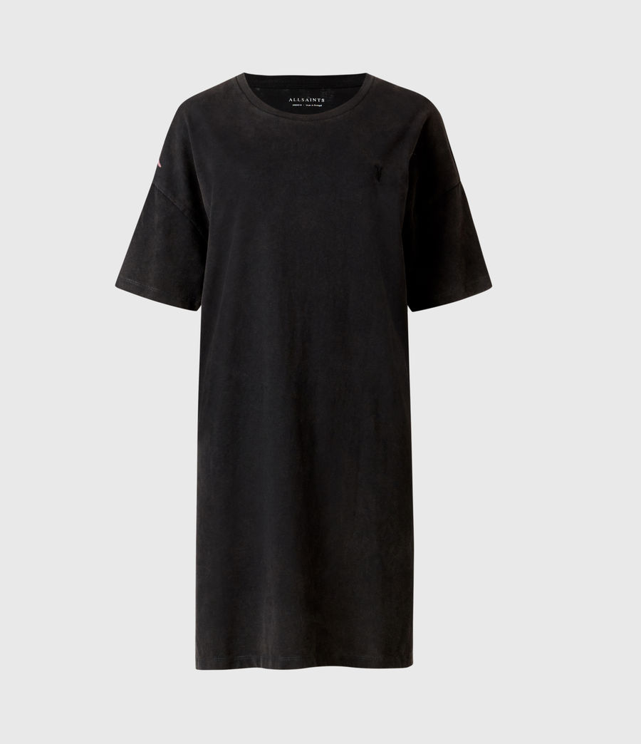 Femmes Aquila T-Shirt Dress (vintage_black) - Image 2