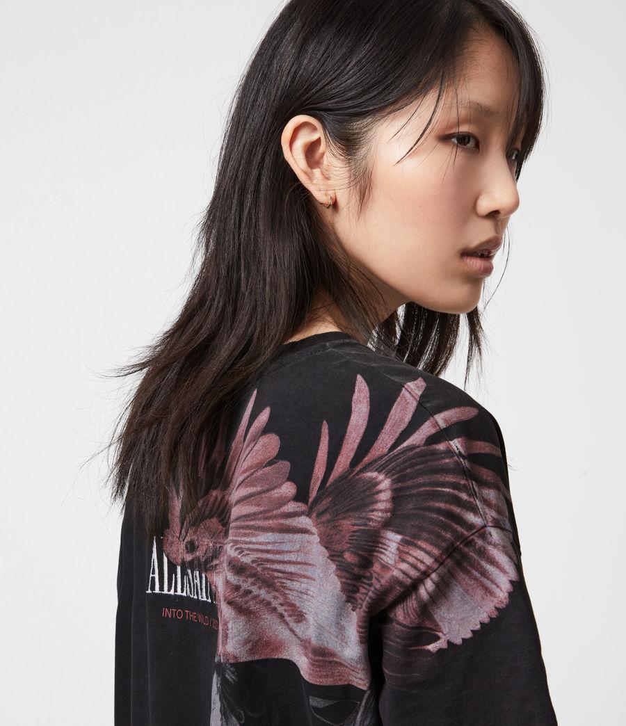 Femmes Aquila T-Shirt Dress (vintage_black) - Image 4