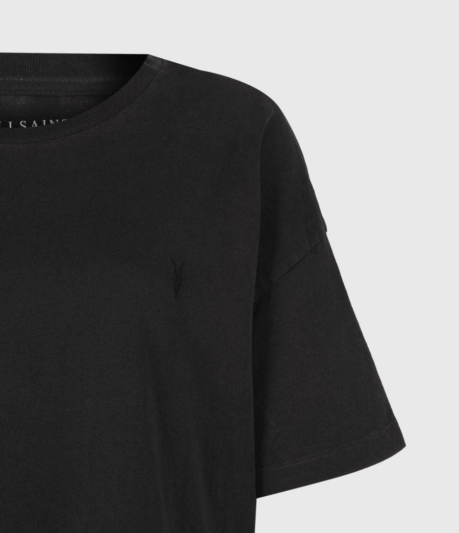 Femmes Aquila T-Shirt Dress (vintage_black) - Image 5