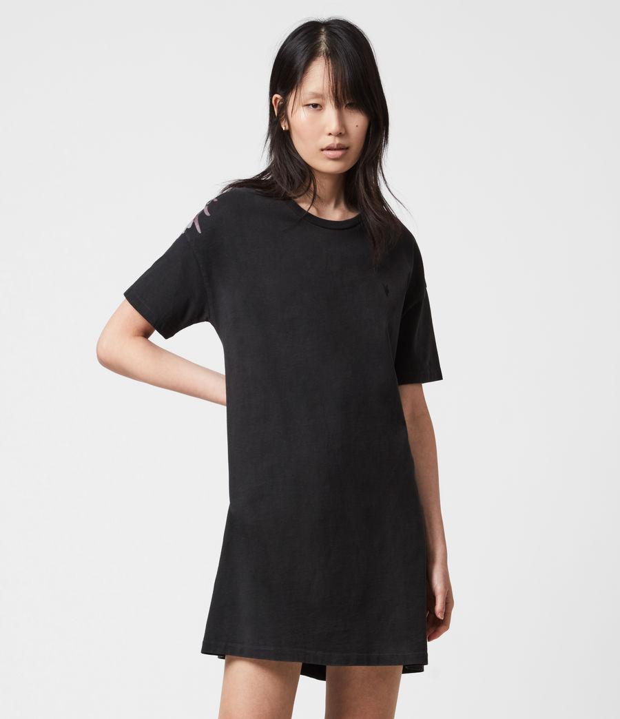 Femmes Aquila T-Shirt Dress (vintage_black) - Image 6