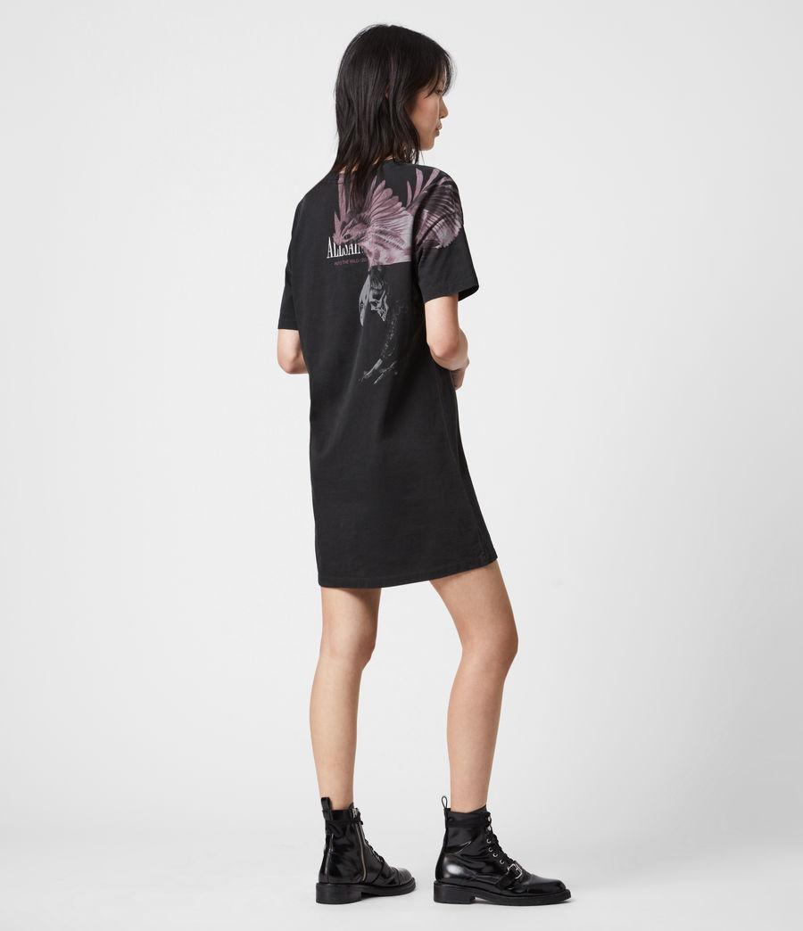 Femmes Aquila T-Shirt Dress (vintage_black) - Image 8